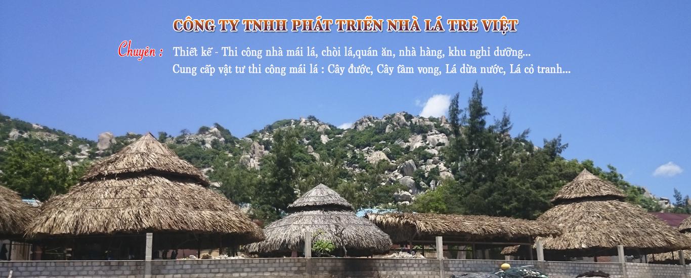 Nhà mái lá tranh / Nhà tre mái lá cọ - Nhà Lá Tre Việt