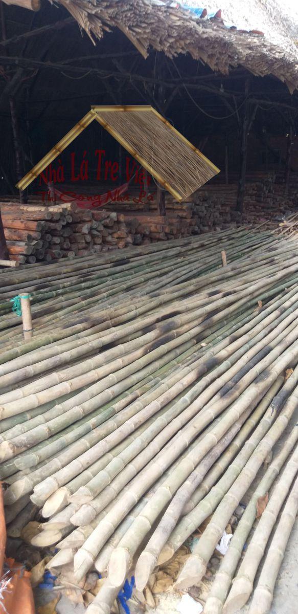 Cây tầm vông dùng để làm cột trụ nhà mái lá giá rẻ